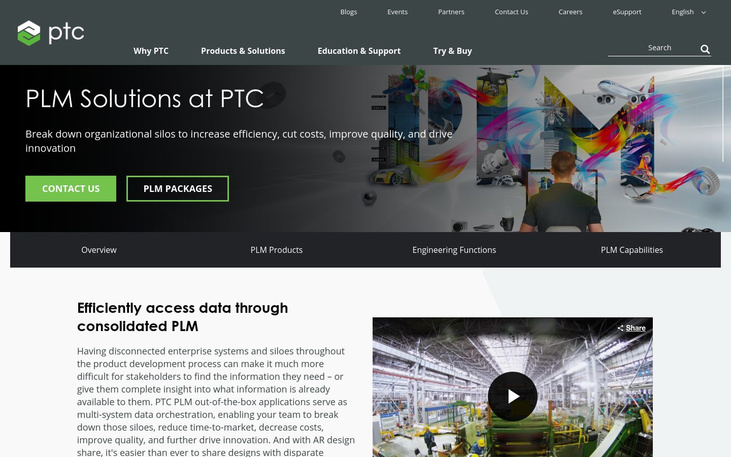 PTC Windchill - Product Lifecycle Management Software