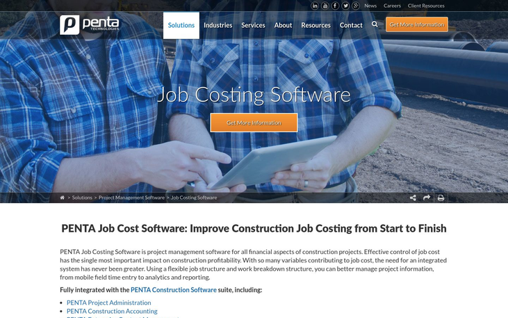 Penta Job Costing Software