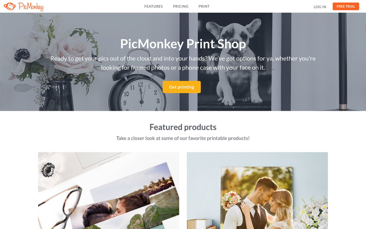 PicMonkey - Photo Printing Software