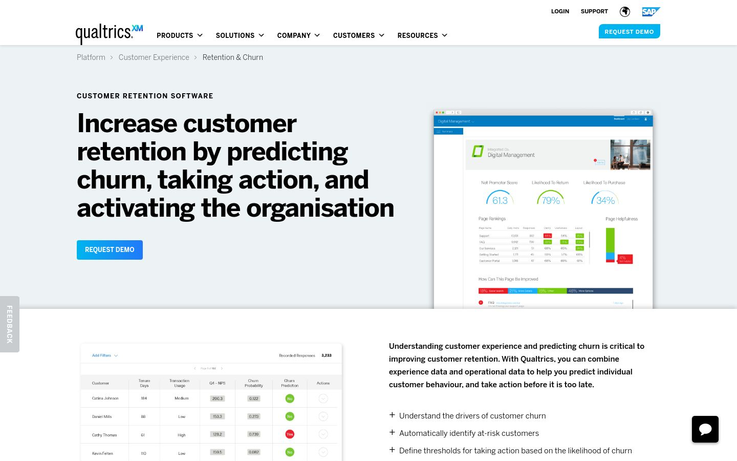 Qualtrics - Customer Retention Software