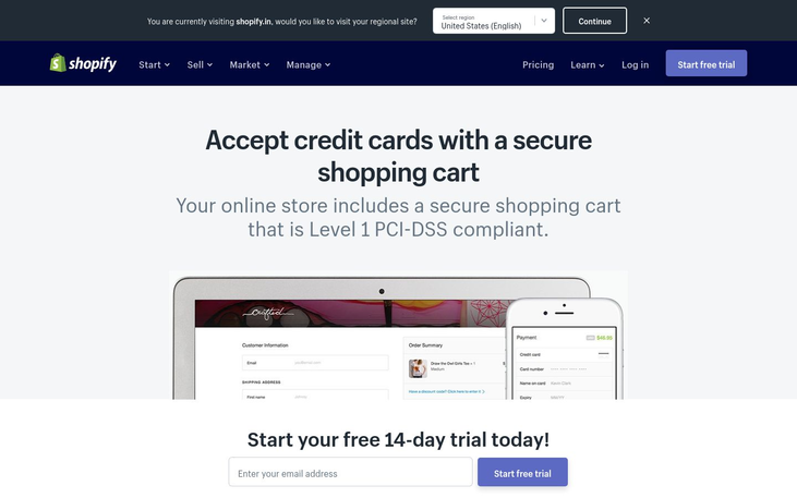 Shopify - Shopping Cart Software