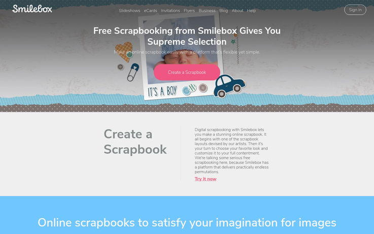 Smilebox - Digital Scrapbooking Software
