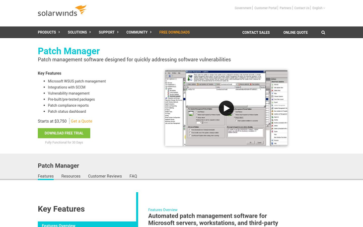 Solarwinds - Patch Management Software