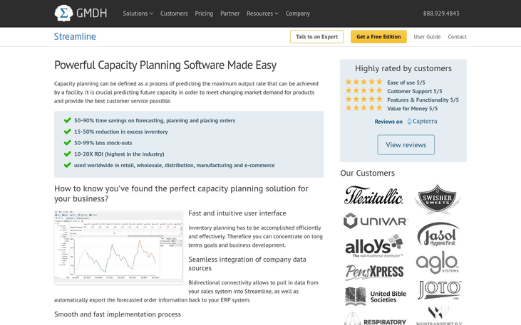Streamline - Capacity Planning Software