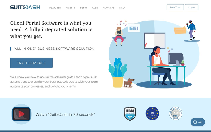 SuiteDash - Client Portal Software