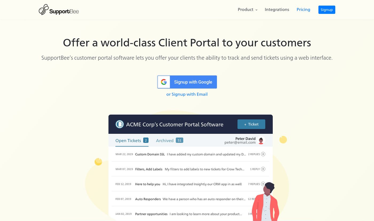 SupportBee - Client Portal Software