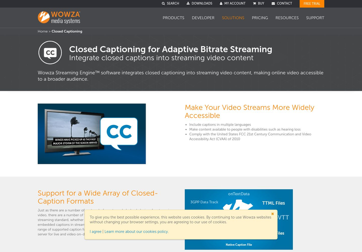 Wowza Streaming Engine - Closed Captioning Software