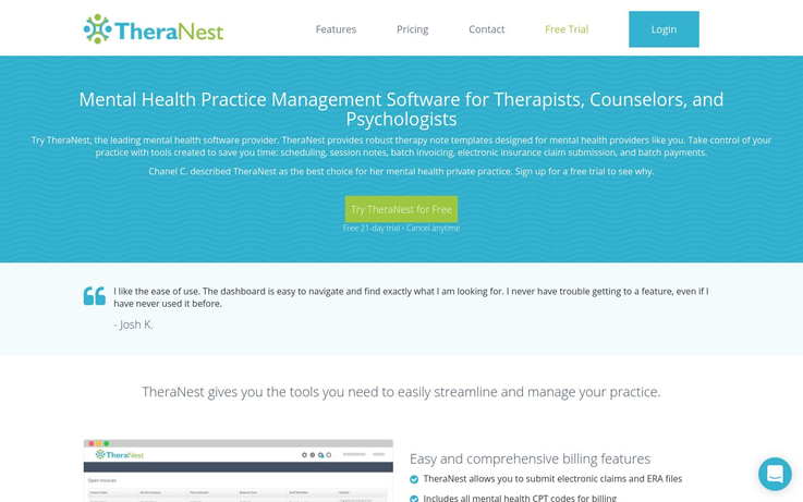 Theranest - Mental Health Software