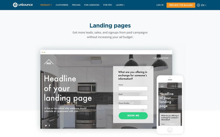 Unbounce - Landing Page Software