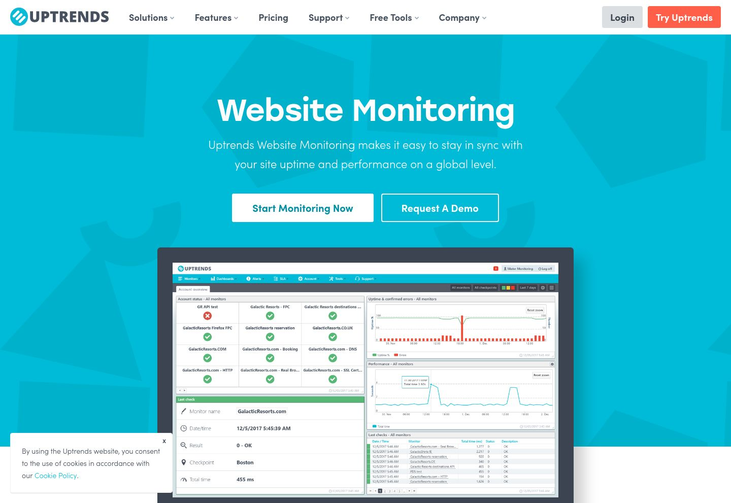 Uptrends - Website Monitoring Software