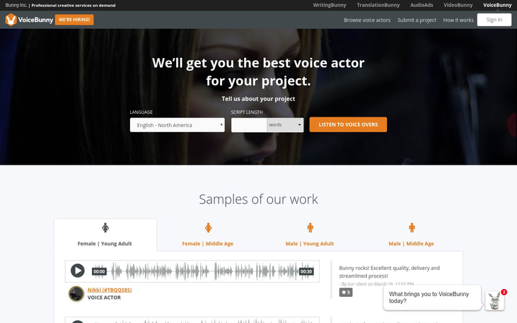 VoiceBunny - Voice Over Software