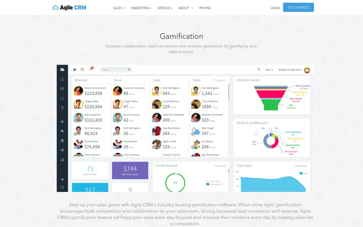 Agile CRM - Gamification Software