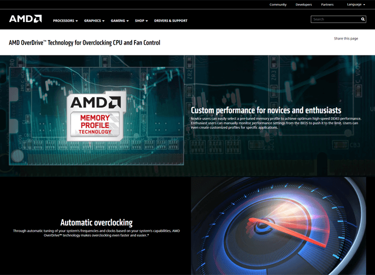 AMD OverDrive - Overclocking Software