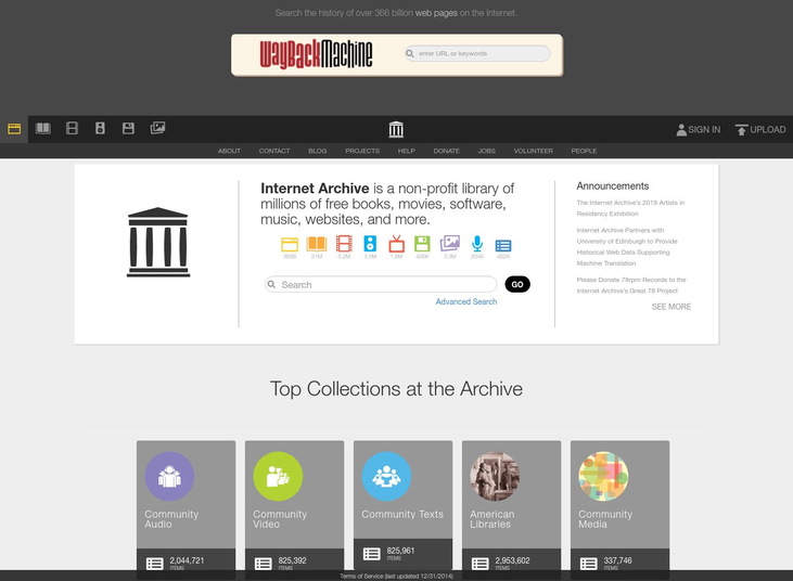 Internet Archive - Free Ebooks Websites