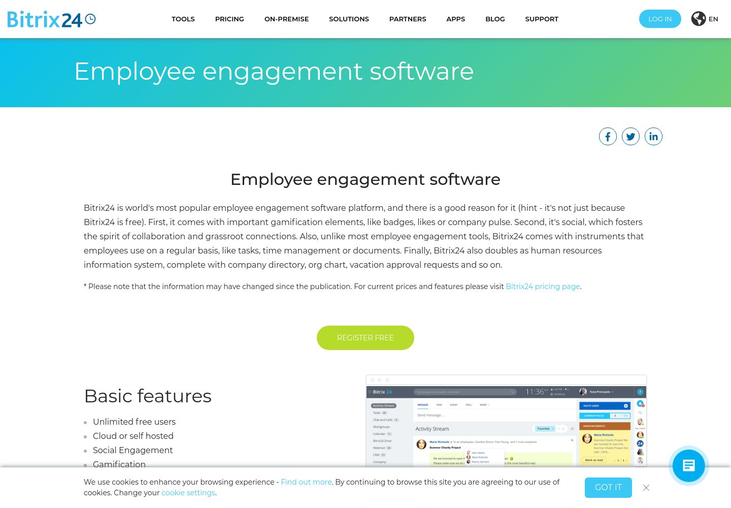 Bitrix24 - Employee Engagement Software
