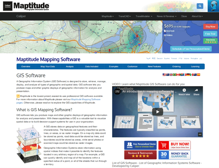 Maptitude - GIS Software