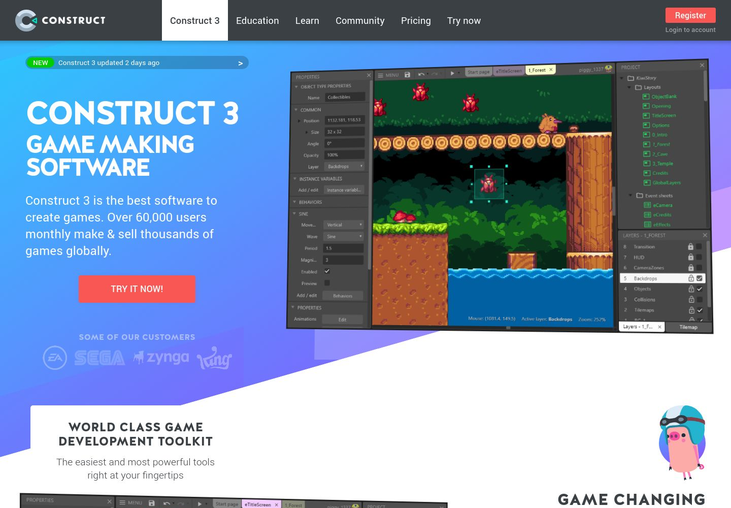 Construct 3 - Game Development Software