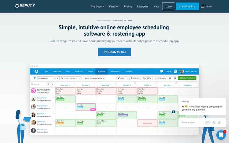 Deputy - Employee Scheduling Software