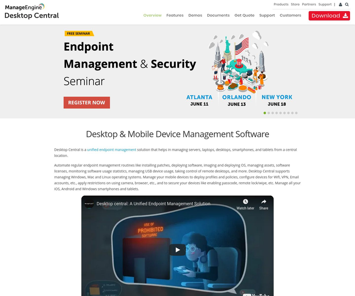 Desktop Central - Desktop Management Software