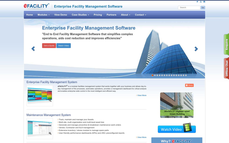 eFACiLiTY - Facility Management Software