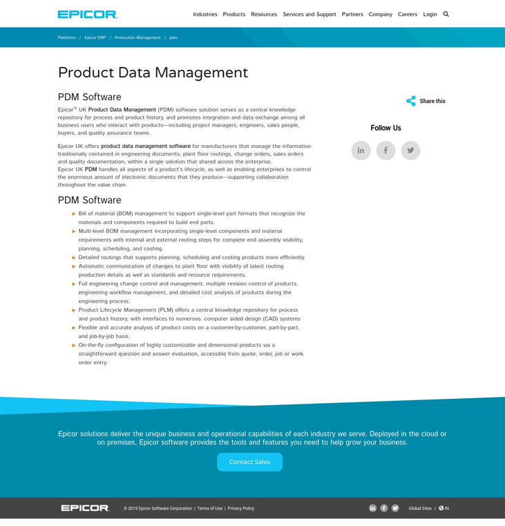 Epicor - Production Management Software