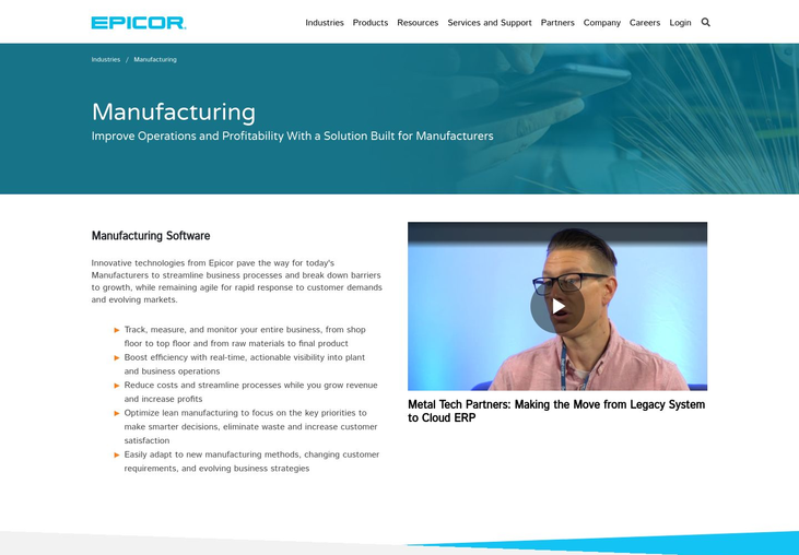 Epicor - Manufacturing Software