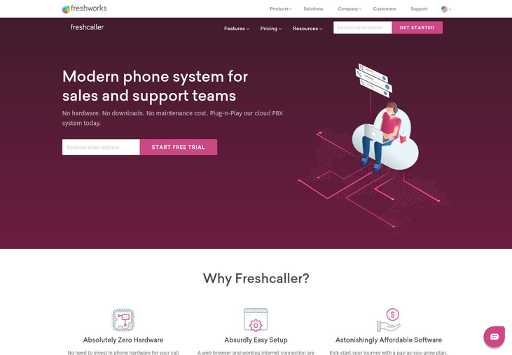 Freshcaller - Call Center Software