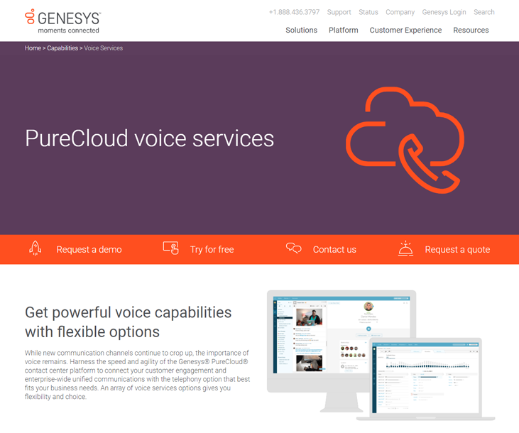 Genesys PureCloud - Telephony Software