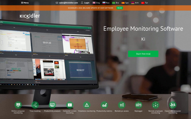 Kickidler - Employee Monitoring Software