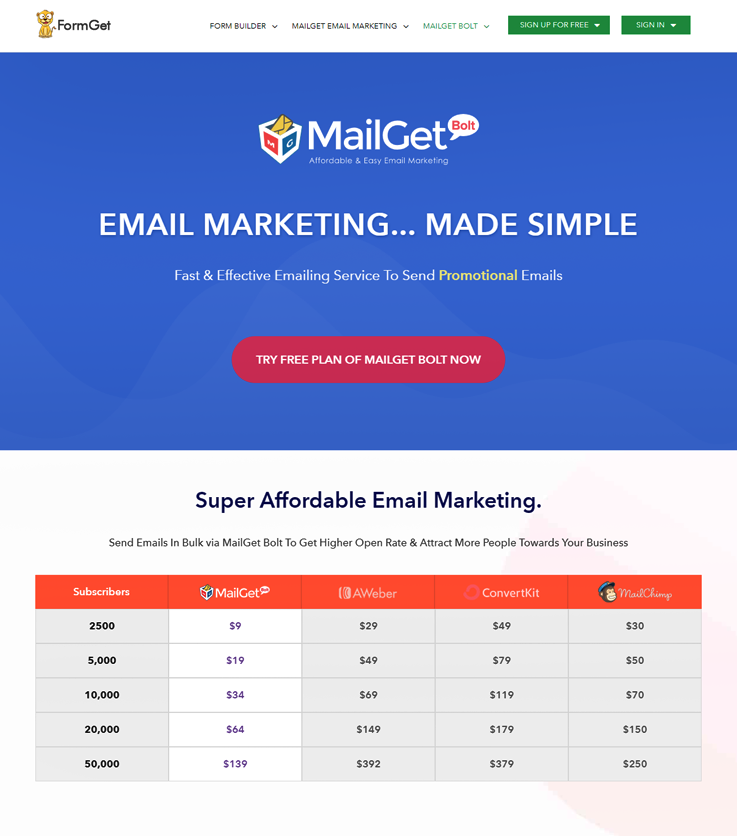 MailGet Bolt - Email Marketing Services