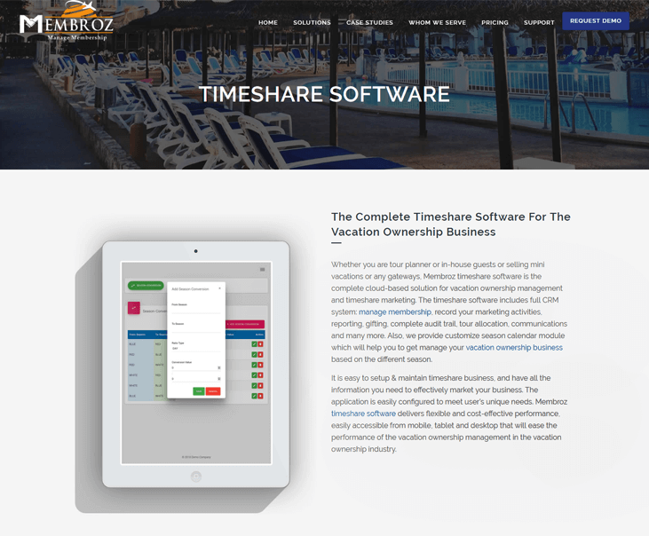 Membroz - Timeshare Software