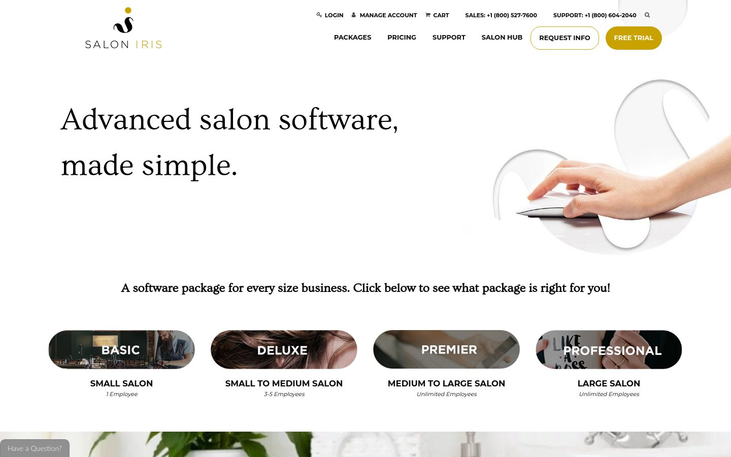 Salon Iris - Salon Software