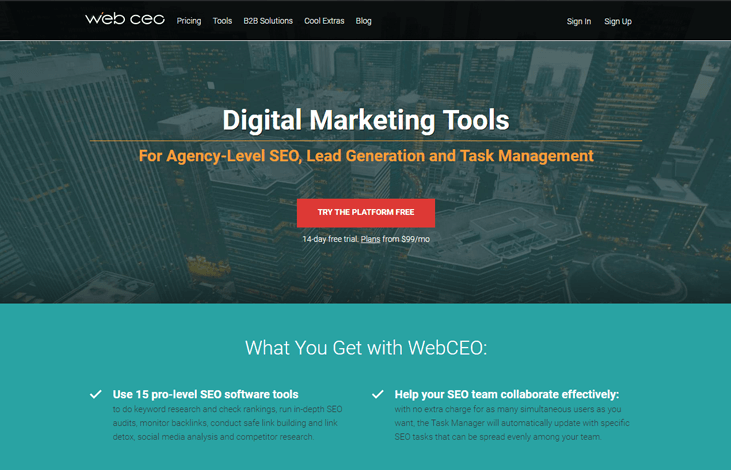 WebCEO - SEO Software