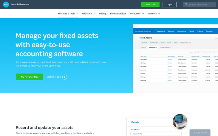 Xero - Fixed Asset Software