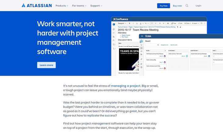 Confluence - Project Management Software