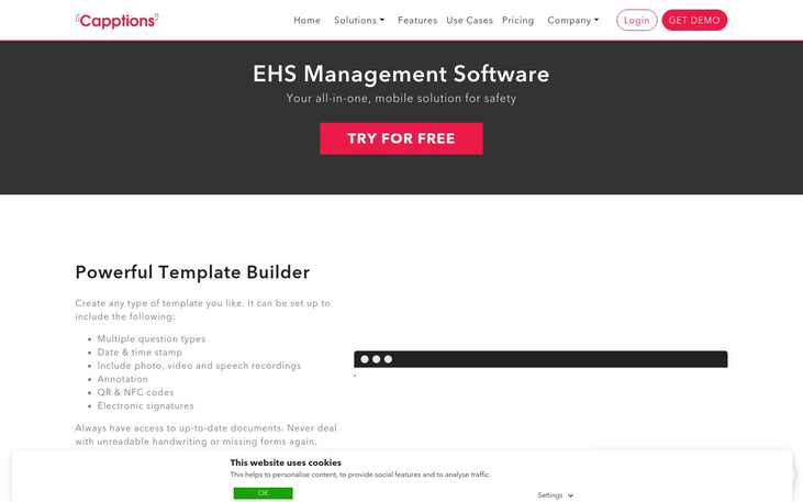 Capptions - Ehs Management Software