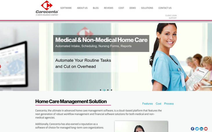 Carecenta - Home Care Software