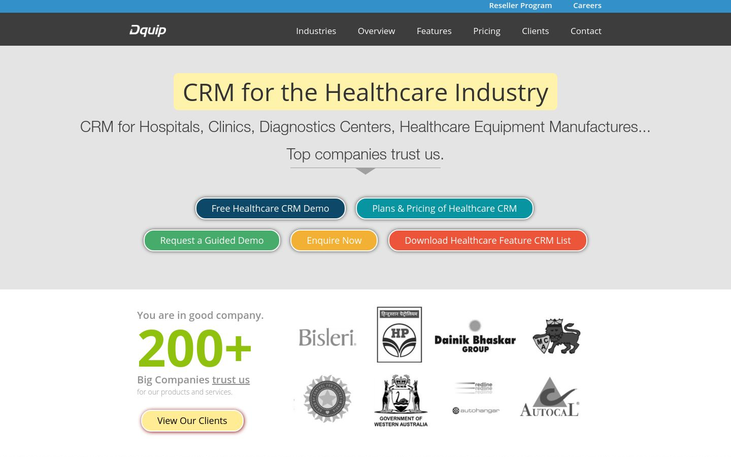Dquip - Healthcare CRM Software