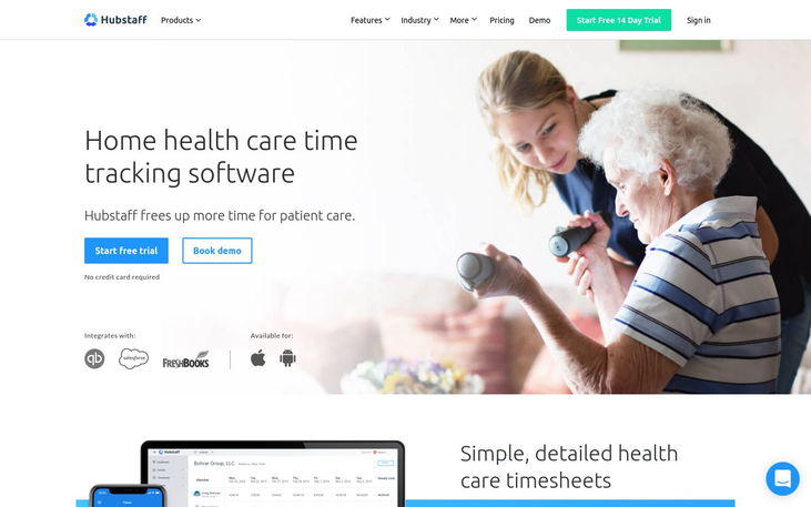 Home Health Care Software By Hubstaff