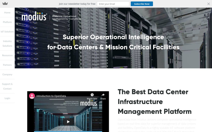 Modius - Data Center Management Software