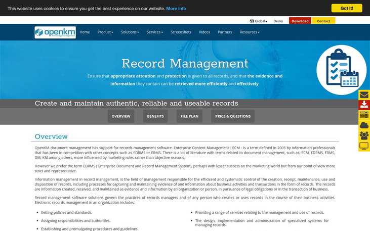 OpenKM – Record Management System