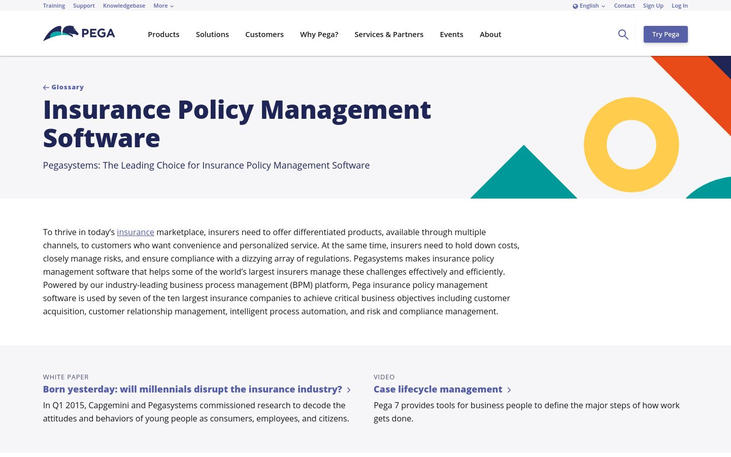 Pegasystems Inc. - Insurance Policy Software