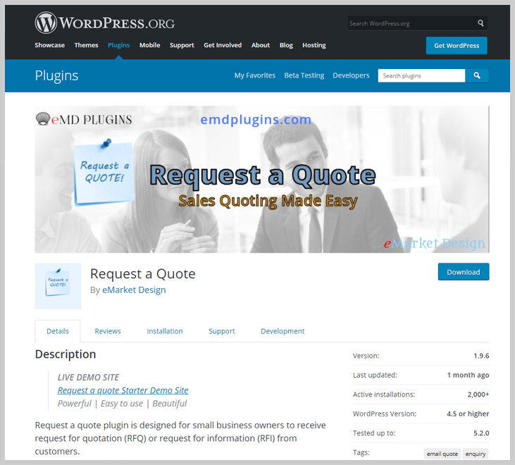 Request a Quote - Quote WordPress Plugins