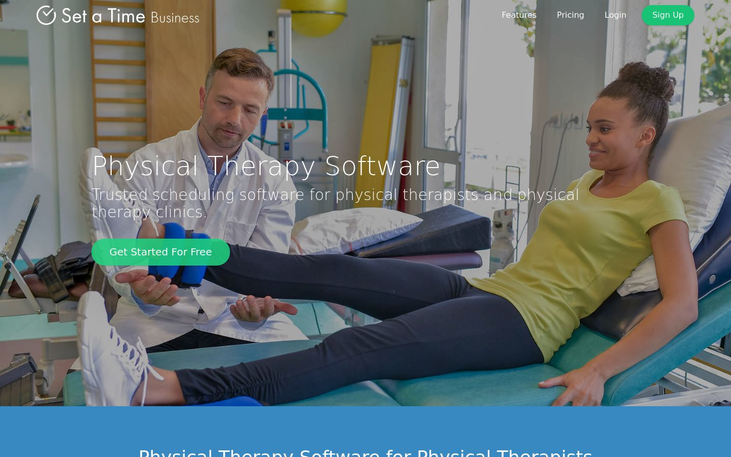 Set a Time - Physical Therapy Software