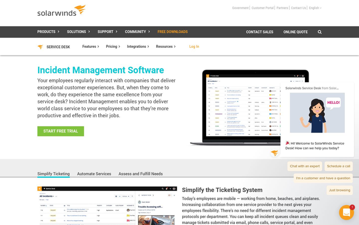 Incident Management Software By Solarwinds