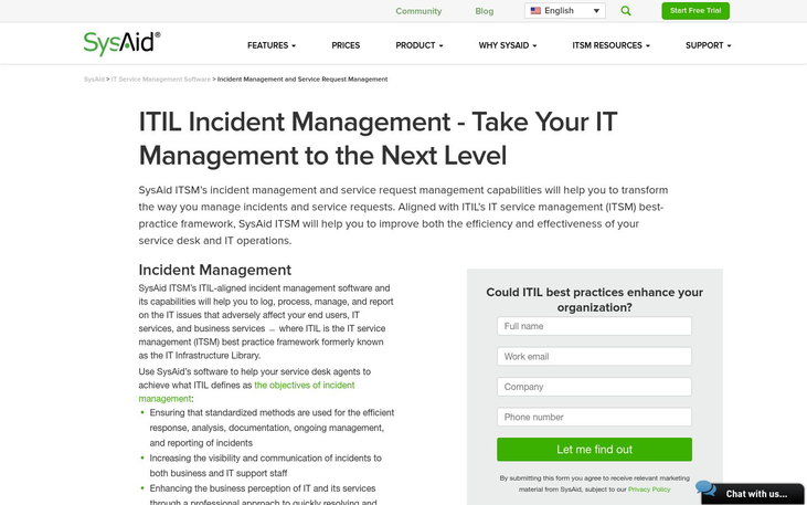 SysAid - Incident Management Software