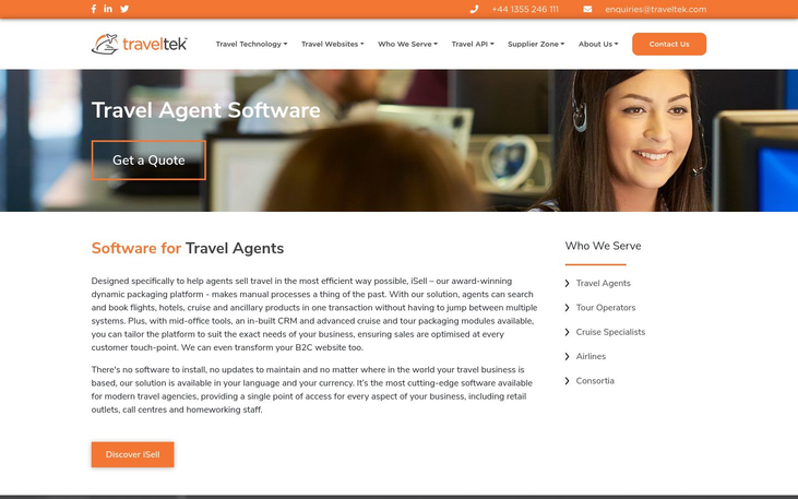 Traveltek - Travel Agency Software
