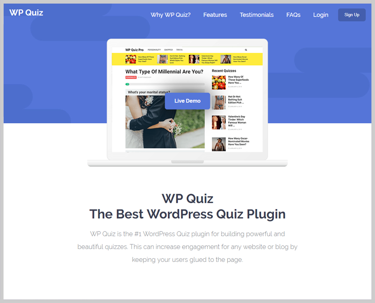 WP Quiz - Online Exam WordPress Plugin