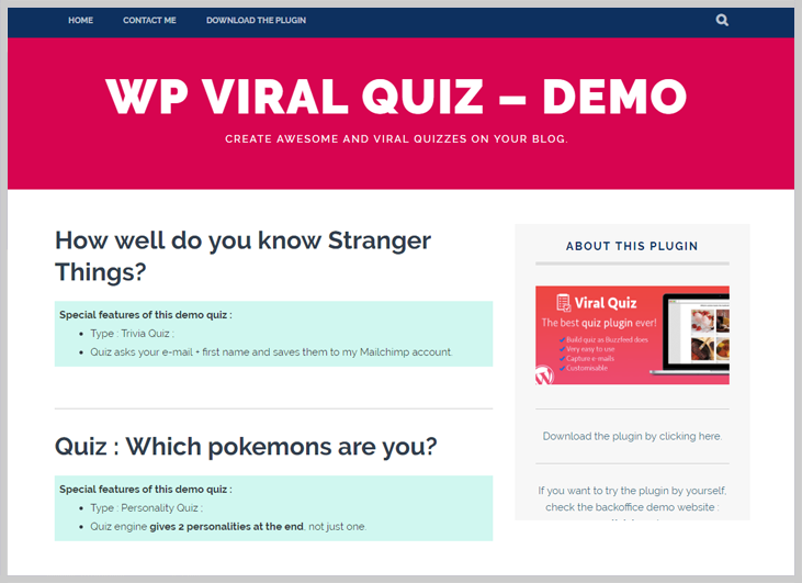 Wp Viral Quize - Online Exam WordPress Plugin