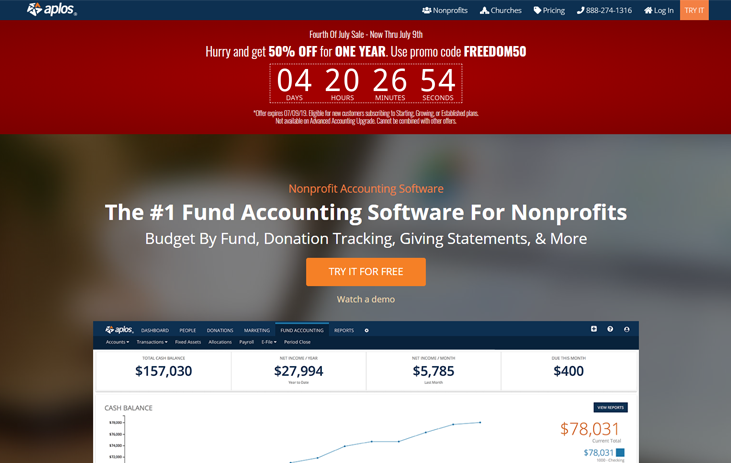 Aplos - Nonprofit Accounting Software